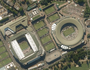 Getmapping's High resolution of Centre Court Wimbledon July 2015