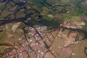 Getmapping aerial snap of Glastonbury Festival July 2015