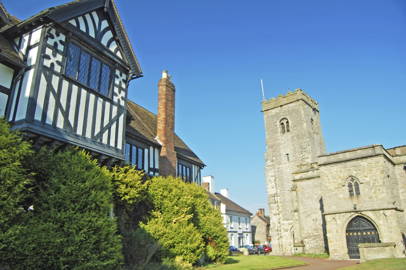 f Shropshire Guildlhall and Church
