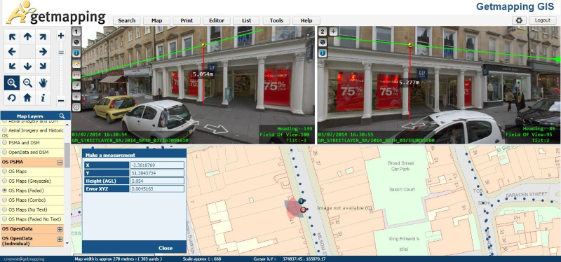 image of Getmapping's Street Layer data