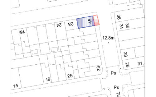 Editable planning map - sample of site plan