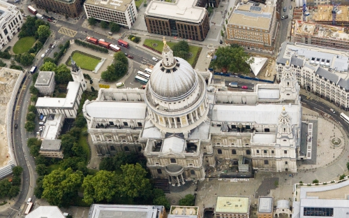 Oblique aerial photography image of London