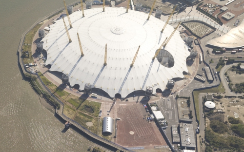 High resolution aerial photography image o Millennium Dome / O2 arena  London