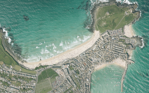 aerial image of St Ives