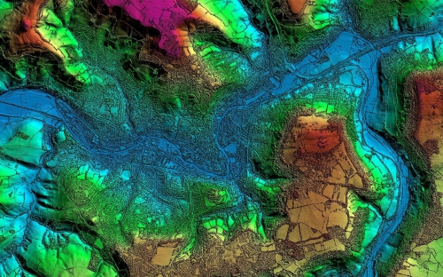 Image of LiDAR data from Getmapping