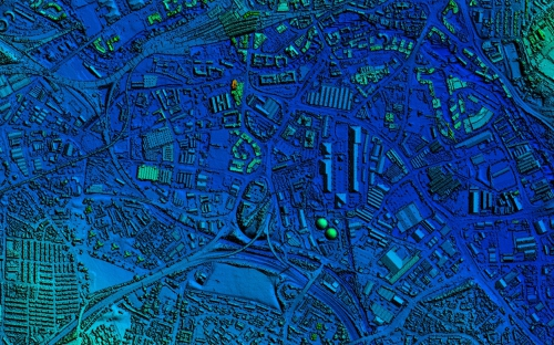 Image of LiDAR data from The Geoinformation Group