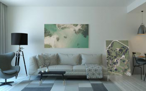 image of wall art using getmappings high resolution ariel imagery