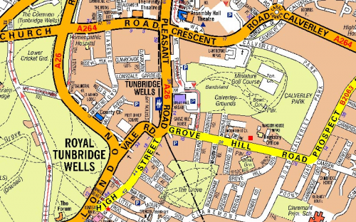 image of Tunbridge Wells in A-Z Mapping's large scale mapping product