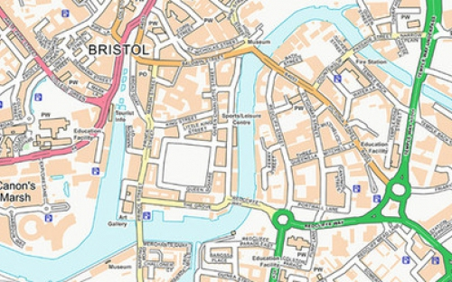 Image of OS Open Roads mapping