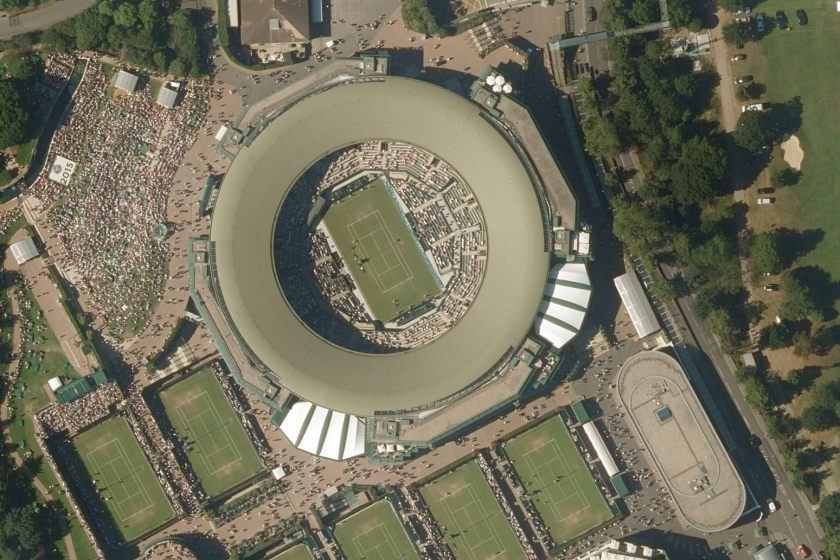 Getmapping high resolution aerial image of Centre Court Wimbledon 2015