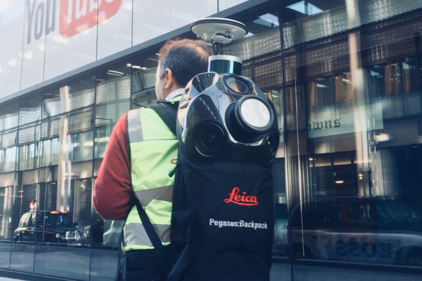 Getmapping have been testing the Leica Systems Pegasus backpack in high streets in London