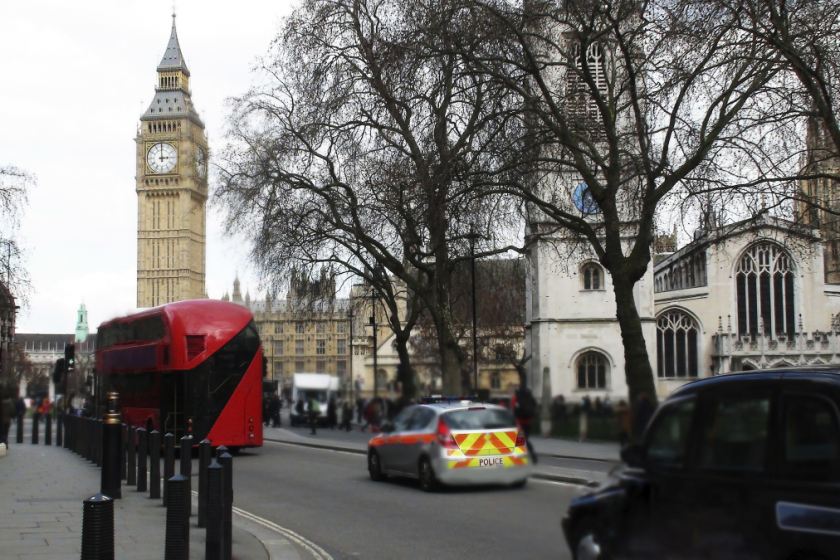 Picture of a London Street outside Big Ben
