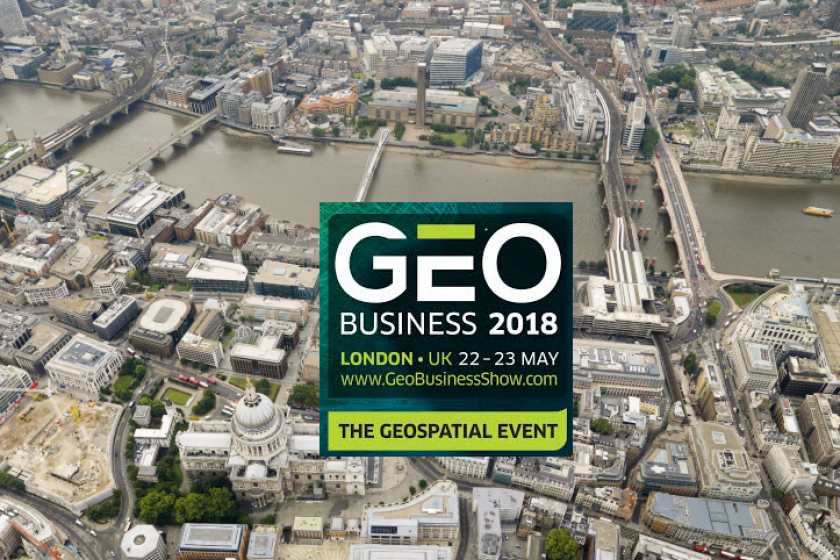 Getmapping are exhibiting at the Geobusiness event in London in May 2018