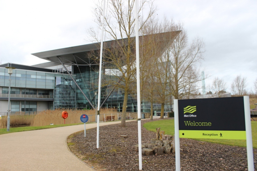 Image of the Met Office building in Exeter, UK