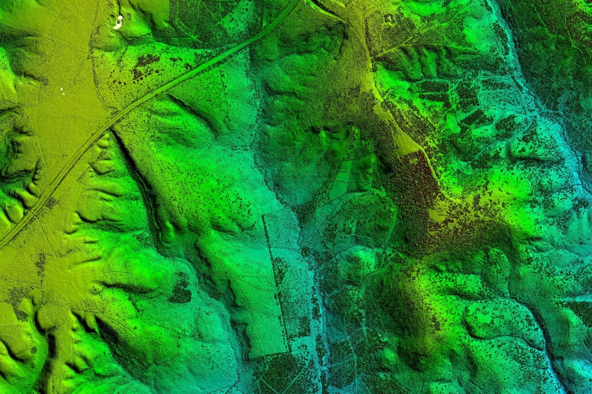 Image of LiDAR data from The Environment Agency