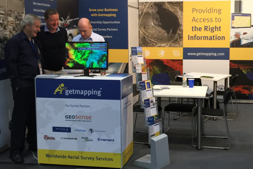 Getmapping exhibiting at INTERGEO 2016 in Hamburg