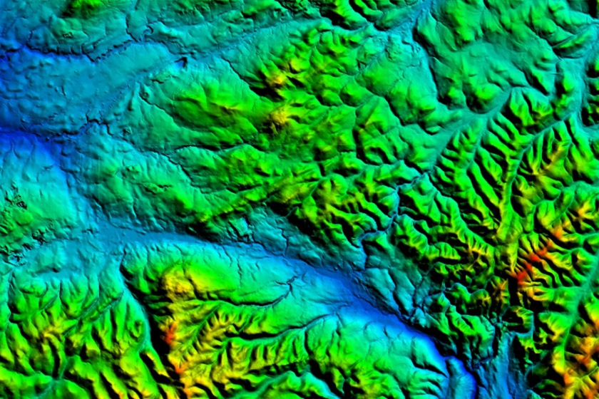 image of OS Terrain50 mapping