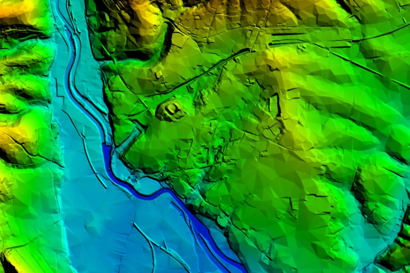 image of OS Terrain5 mapping