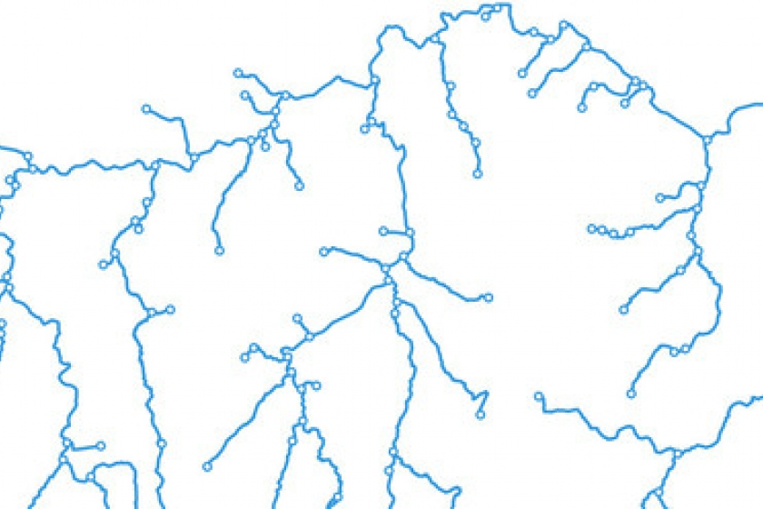 Image of OS Open Rivers mapping