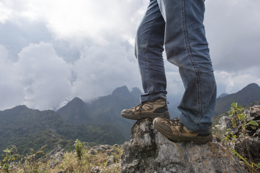 Image of a man hiking