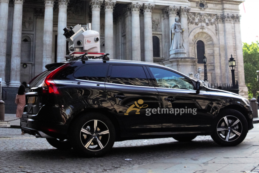 image of Getmappings Mobile Mapping Survey Car with Leica Pegasus:Two system